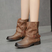 Load image into Gallery viewer, Vintage Martin Boots Round Toe Leather Booties