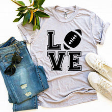 Load image into Gallery viewer, Love Football T-shirt ~Multiple Colors ~Up to XXXL