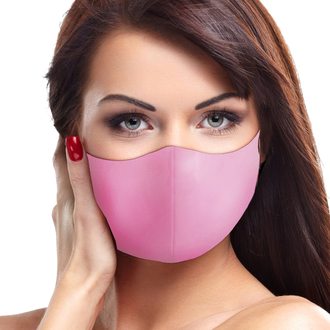 Solid Charity Pink Face Mask