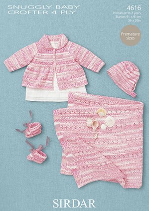 Sirdar Snuggly Baby Crofter 4 Ply Pattern 4616