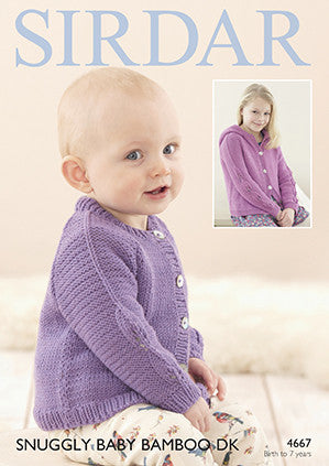 Sirdar Snuggly Baby Bamboo DK Pattern 4667