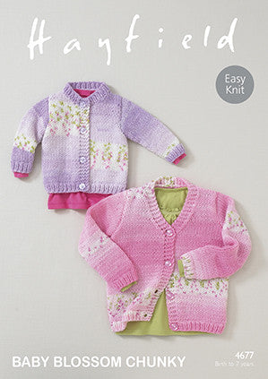 Hayfield Baby Blossom Chunky Pattern 4677