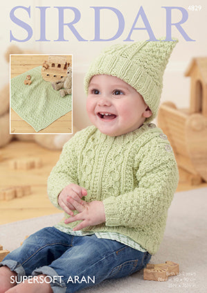 Sirdar Supersoft Aran Pattern 4829