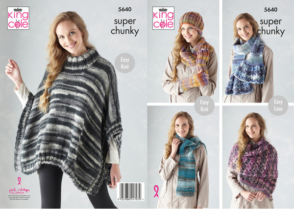 King Cole Super Chunky Pattern 5640