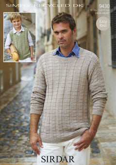 Sirdar Simply Recycled DK Pattern 9430