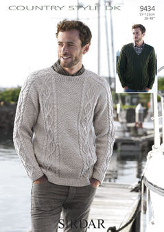Sirdar Country Style DK Pattern 9434