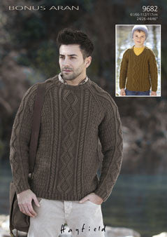 Hayfield Bonus Aran Pattern 9682
