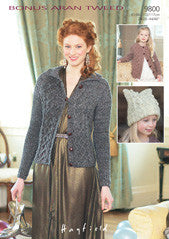Bonus Aran Tweed Pattern  9800