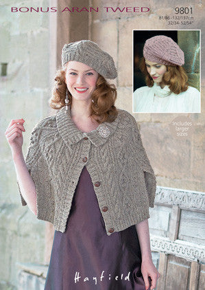 Hayfield Bonus Aran Tweed Pattern 9801