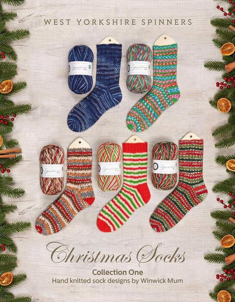 WYS Christmas Socks Collection One designed by Winwick Mum
