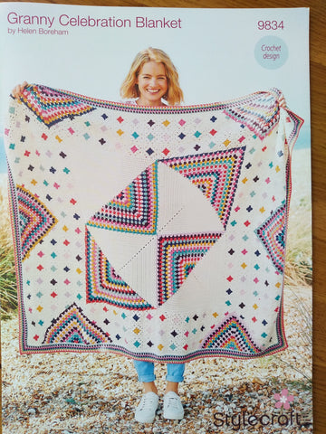 Stylecraft Granny Celebration Blanket Pattern 9834
