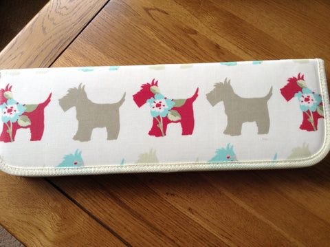 Hobby Gift Scotty Dog Knitting Needle Case (Filled)
