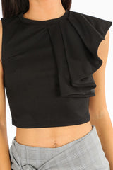 s/877/11831-_Black_Frill_Shoulder_Crepe_Crop_Top-6__50284.jpg