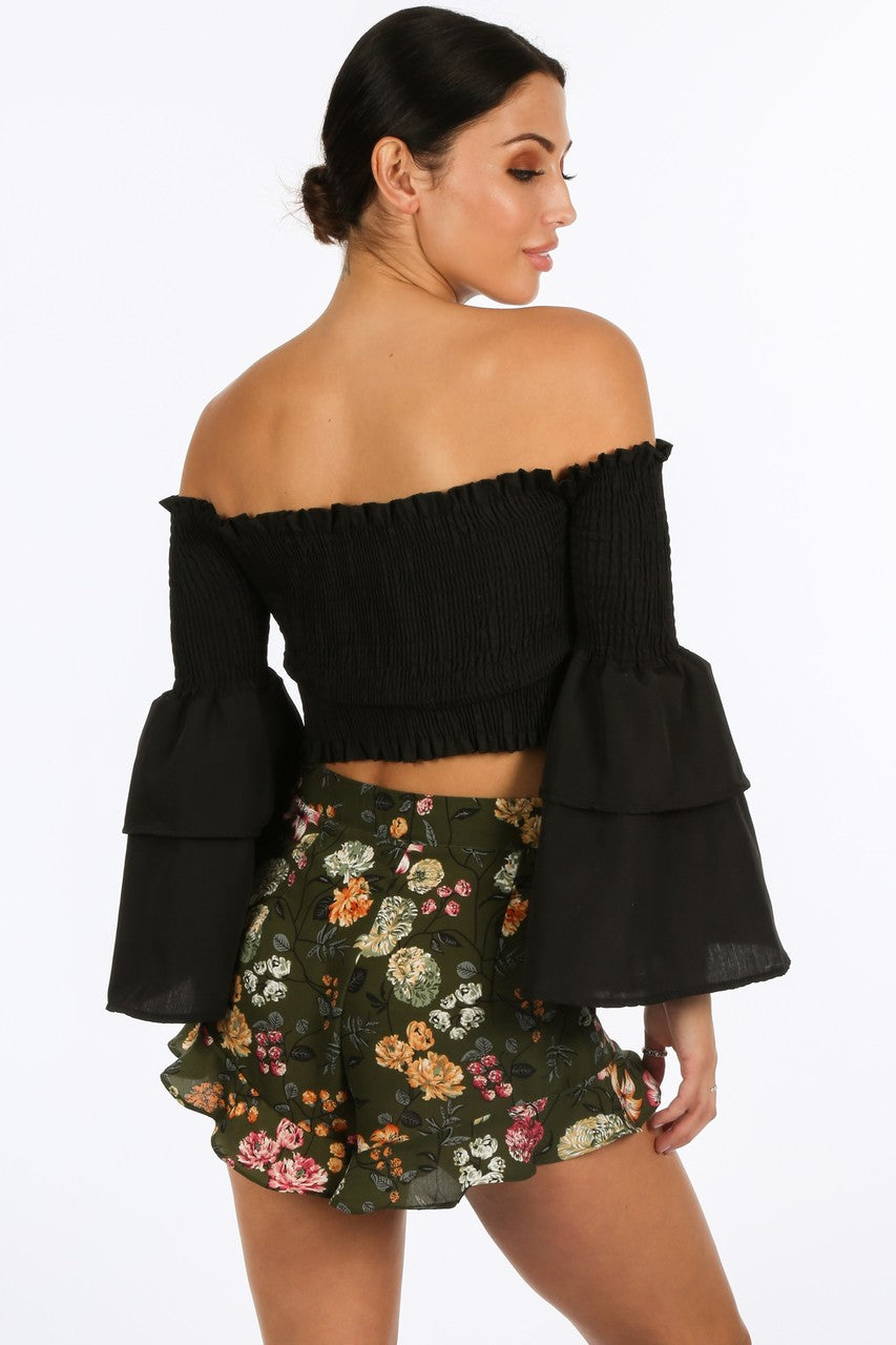e/057/8098-_Black_Shirred_Bardot_Crop_Top_With_Bell_Sleeves-4__95542.jpg