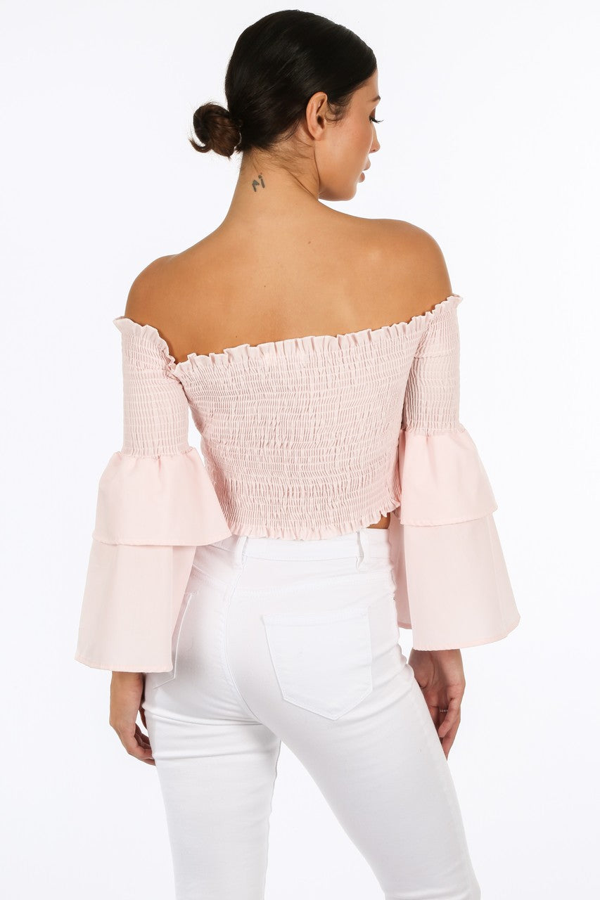 t/228/8098-_Pink_Shirred_Bardot_Crop_Top_With_Bell_Sleeves-3__68808.jpg