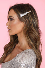 Ellie Small Floral Cluster Pear Hair Slide
