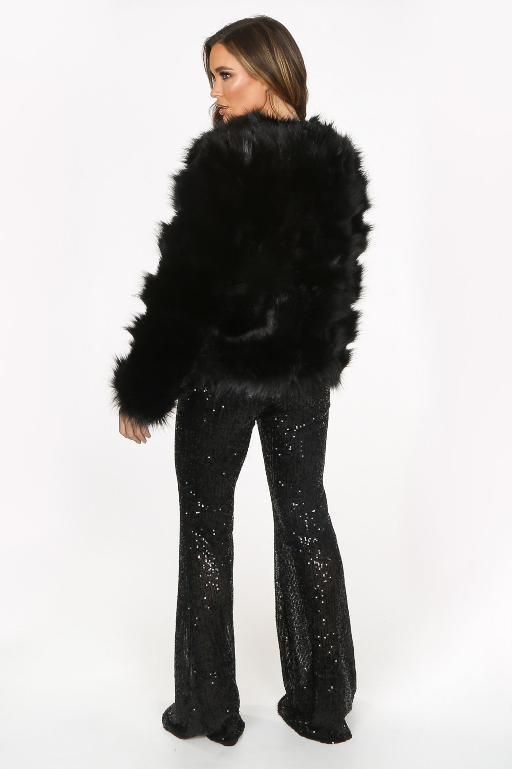 Black Super Soft Faux Fur Jacket