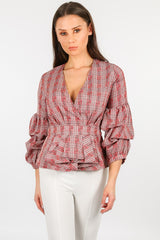 y/069/H118-2-_Red_Plaid_Puff_Sleeve_Peplum_Blouse-2__02455.jpg