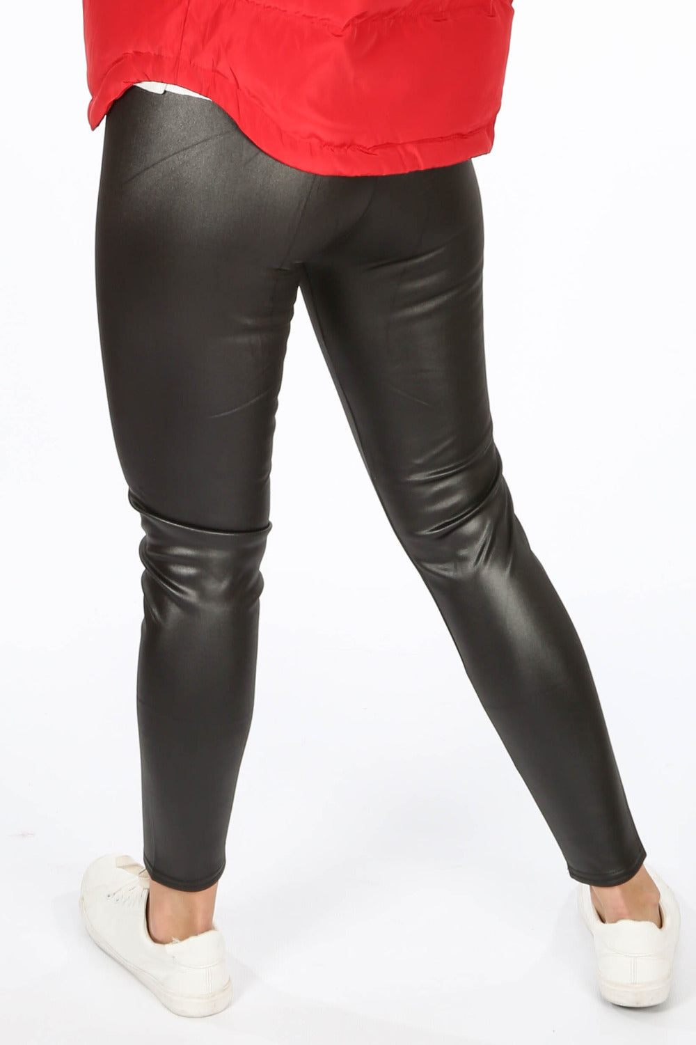 Black Wax Look Leggings