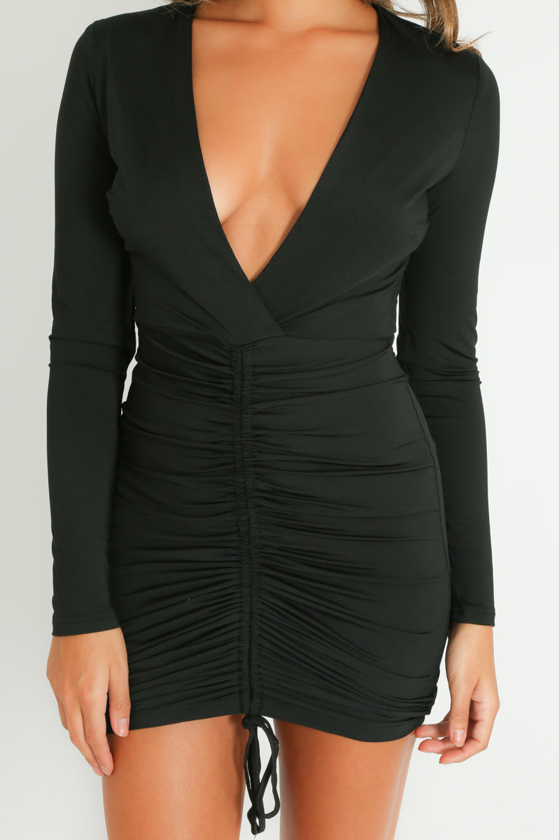 c/637/Plunge_Front_Ruched_Bodycon_Dress_In_Black-3__54861.jpg