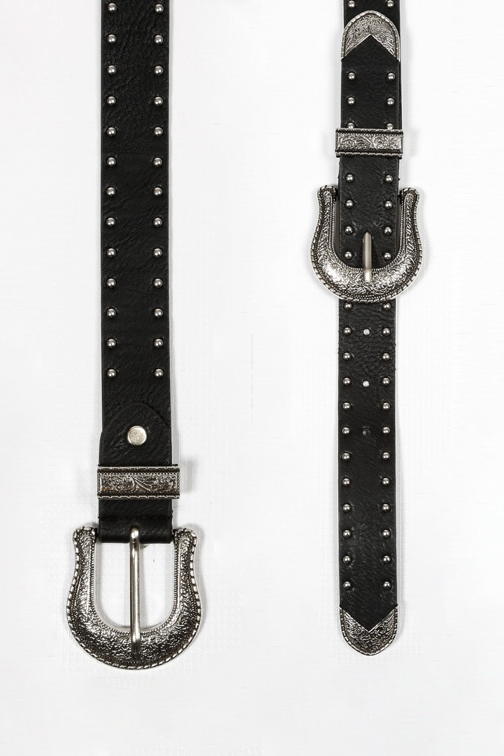 Studded Double Buckle Belt