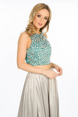 k/928/W1257-_High_Neck_Satin_Embellished_Crop_Top_In_Green-2__60846.jpg