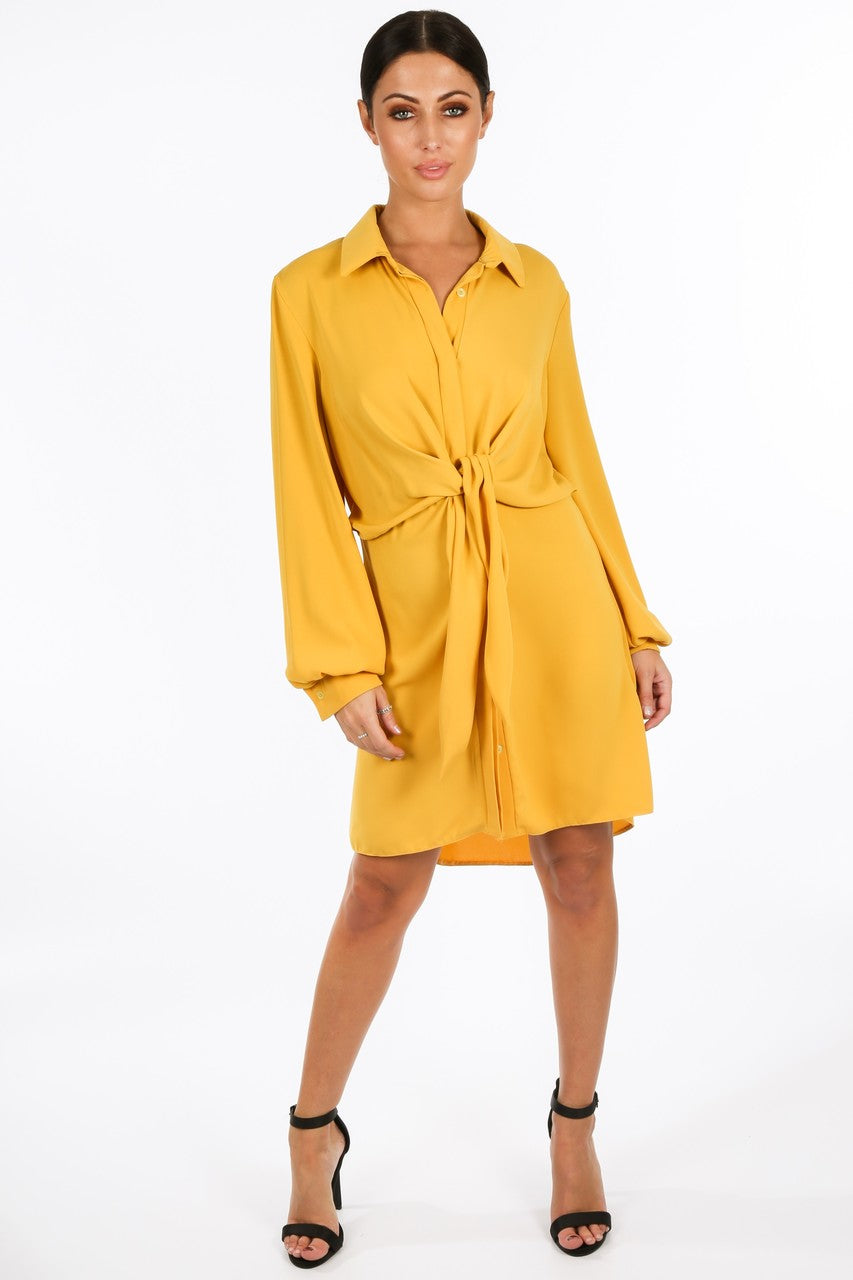 l/166/gcd2076-_Tie_Front_Chiffon_Shirt_Dress_In_Mustard__80563.jpg