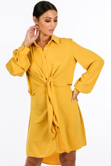 h/450/gcd2076-_Tie_Front_Chiffon_Shirt_Dress_In_Mustard-2__34637.jpg