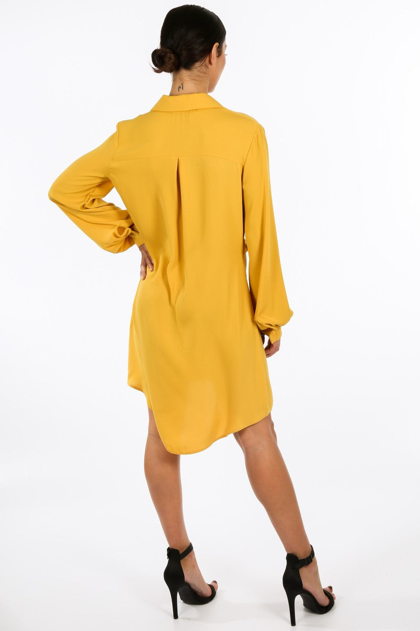 j/900/gcd2076-_Tie_Front_Chiffon_Shirt_Dress_In_Mustard-4__74994.jpg