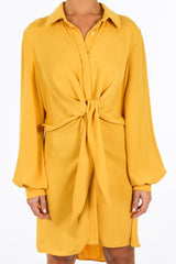 d/705/gcd2076-_Tie_Front_Chiffon_Shirt_Dress_In_Mustard-5__16418.jpg