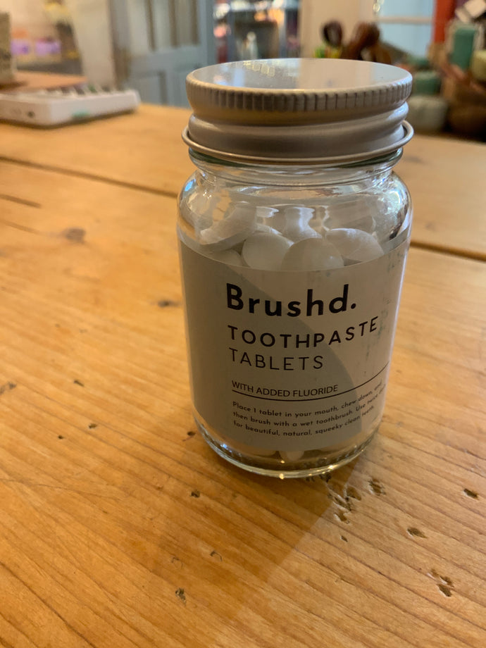 Toiletries - Brushd Toothpaste Tablets with Fluoride 124s