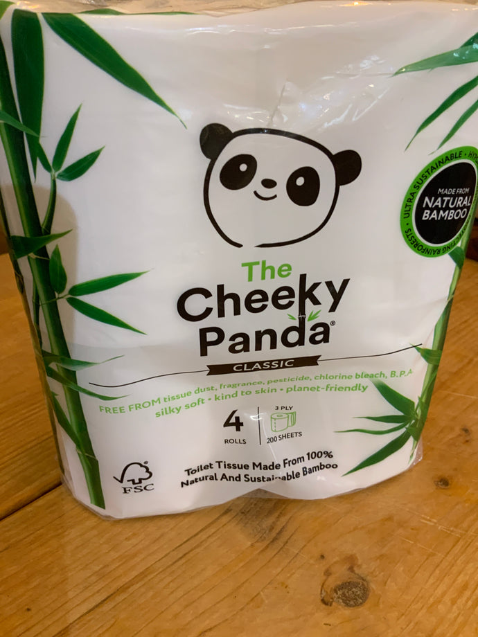 Toiletries - Cheeky panda 4 rolls
