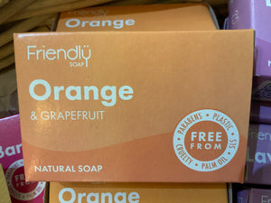 Toiletries - Friendly Orange & Grapefruit Natural Soap