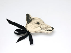 Monochrome Fox Headdress