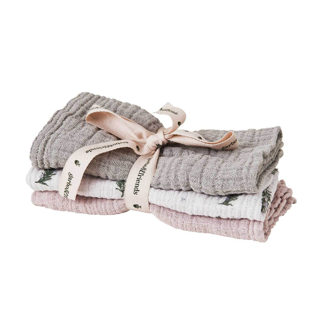 Rosemary burp cloth, 3pk