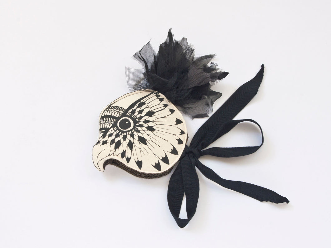 Monochrome Owl Headdress