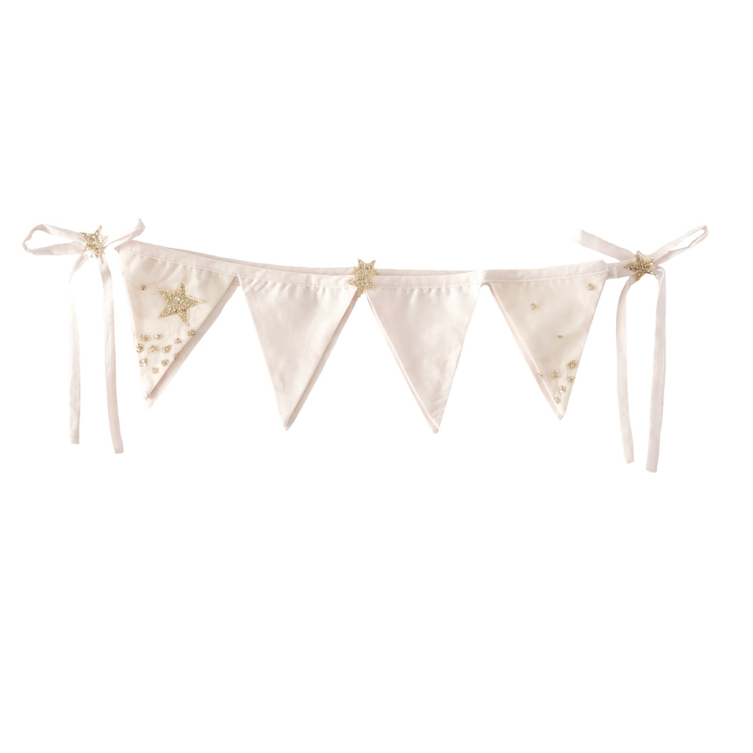 Glitter Stars Bunting in Powder