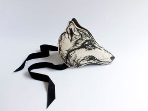Monochrome Wolf Headdress