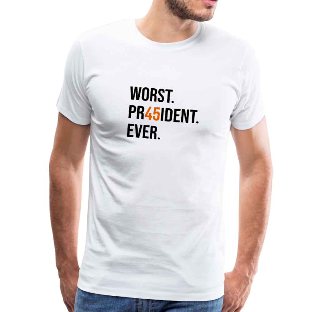 """45"" Anti-Trump Men's T-Shirt White - white"