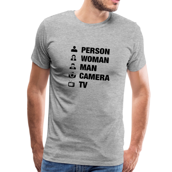 Person Woman Man Camera TV Anti-Trump Men's T-Shirt - heather gray