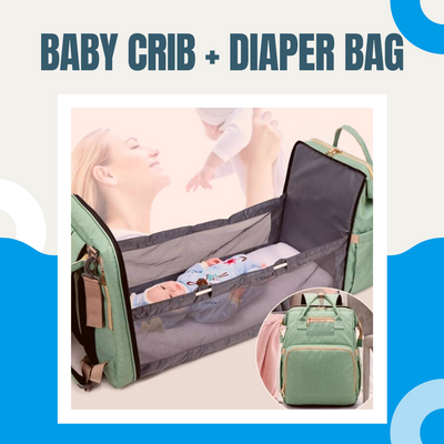 4-in-1 Convertible Baby Diaper Bag