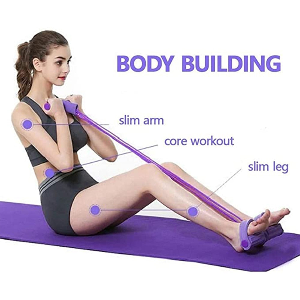 【For Sit-ups & Home Workouts】Multi-Functional Pedal Puller