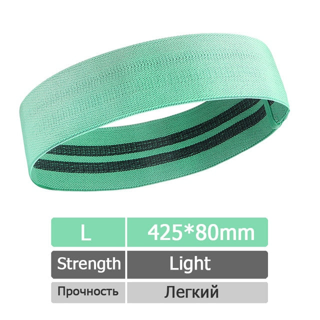 【Home Workouts】Anti-Slip Resistance Band for Yoga and Squats