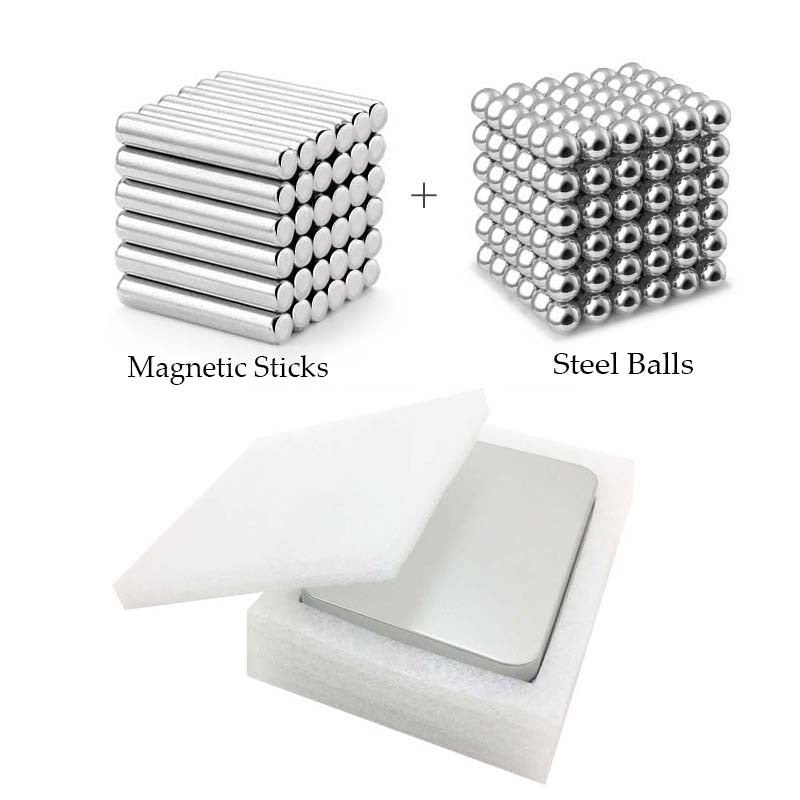 【Great STEM Learning Tool 】Highly Educational Click-and-Stick Magnetic Building Blocks