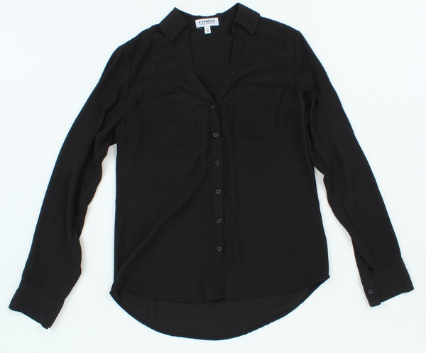 Express Long Sleeve Button-Up XS