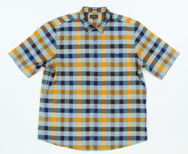 Rodd & Gunn Men Casual Button-Down Shirts Short Sleeve Regular 2XL