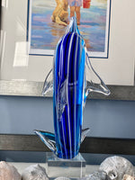 Load image into Gallery viewer, Blue Dolphin Murano Style Glass Art