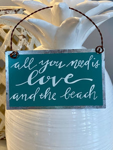 All You Need is Love and the Beach Sign