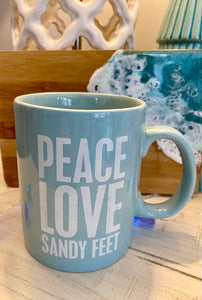 Peace Love Sandy Feet Mug