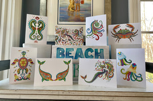 Boho Beach Friends Notecards